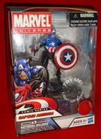 Marvel Universe: Exclusive Comic Series with Light-Up Base Captain America (Bucky Barnes)